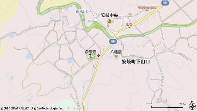 大分県国東市安岐町下山口1161周辺の地図