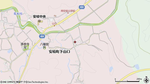 大分県国東市安岐町下山口1543周辺の地図