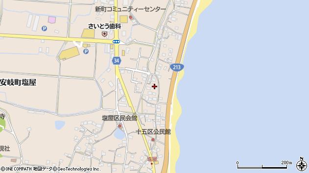 大分県国東市安岐町塩屋1664周辺の地図