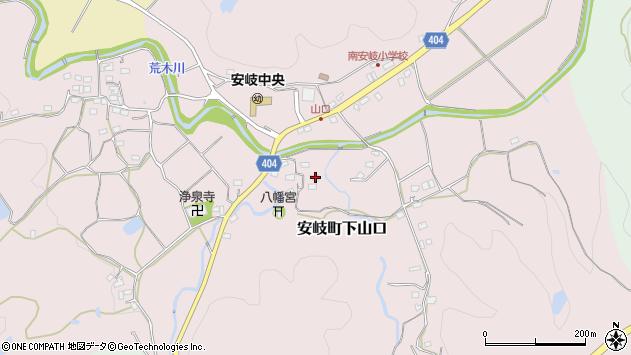 大分県国東市安岐町下山口21周辺の地図