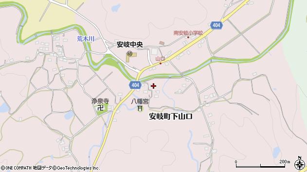 大分県国東市安岐町下山口1222周辺の地図