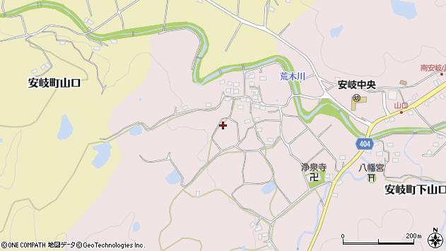 大分県国東市安岐町下山口三郎丸周辺の地図