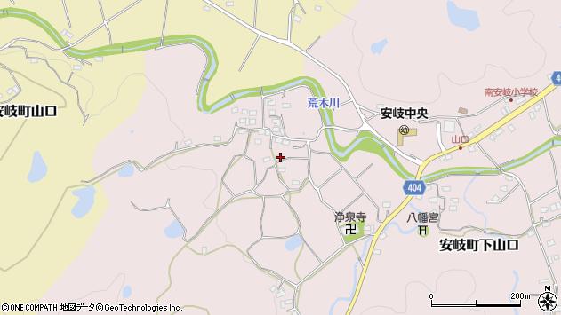 大分県国東市安岐町下山口634周辺の地図