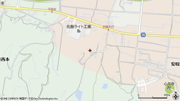 大分県国東市安岐町西本2065周辺の地図