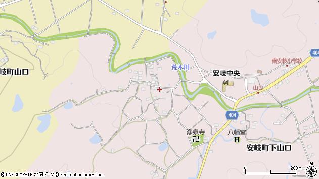 大分県国東市安岐町下山口675周辺の地図