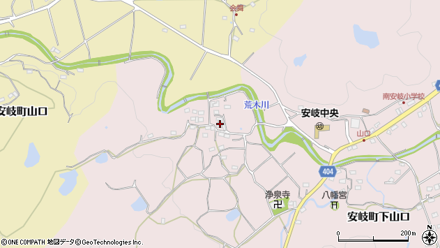 大分県国東市安岐町下山口704周辺の地図