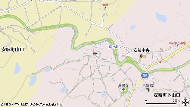 大分県国東市安岐町下山口705周辺の地図