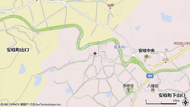 大分県国東市安岐町下山口708周辺の地図