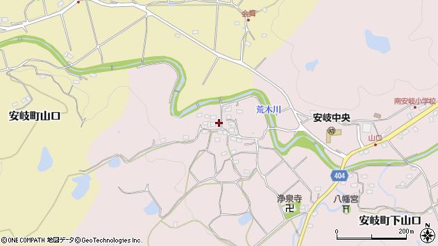 大分県国東市安岐町下山口707周辺の地図