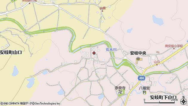 大分県国東市安岐町下山口706周辺の地図