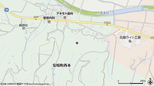 大分県国東市安岐町西本下西本周辺の地図