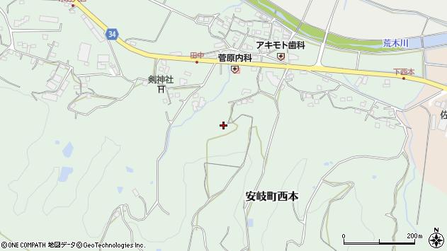大分県国東市安岐町西本933周辺の地図