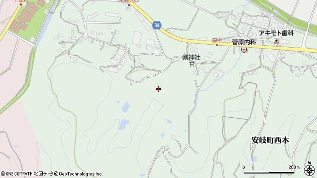 大分県国東市安岐町西本内迫周辺の地図