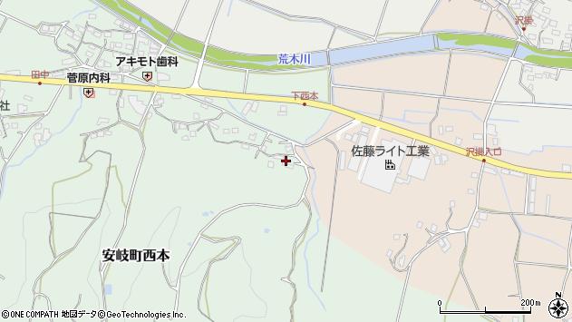 大分県国東市安岐町西本1124周辺の地図