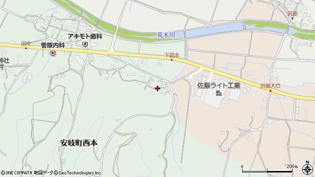 大分県国東市安岐町西本1140周辺の地図
