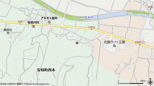 大分県国東市安岐町西本1136周辺の地図