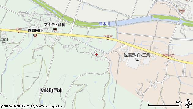 大分県国東市安岐町西本1143周辺の地図