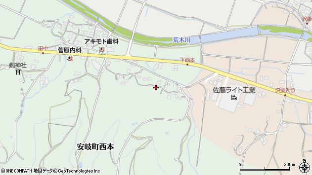 大分県国東市安岐町西本1145周辺の地図