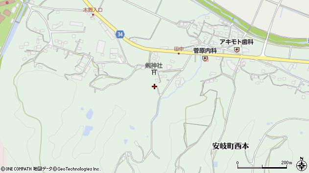大分県国東市安岐町西本651周辺の地図