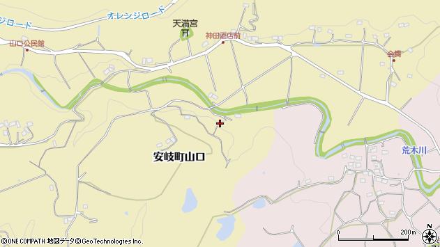 大分県国東市安岐町山口864周辺の地図
