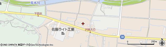 大分県国東市安岐町西本荒巻周辺の地図