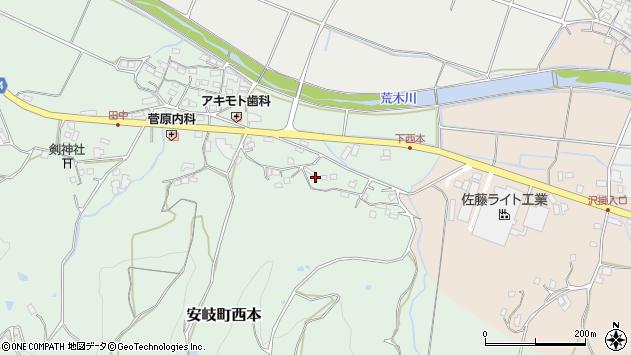 大分県国東市安岐町西本1158周辺の地図