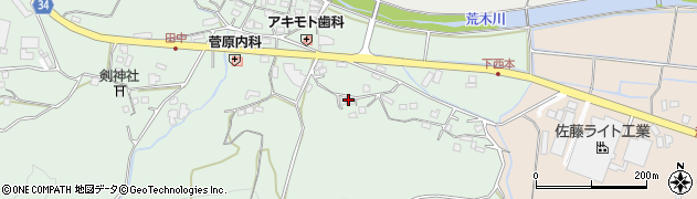 大分県国東市安岐町西本1046周辺の地図