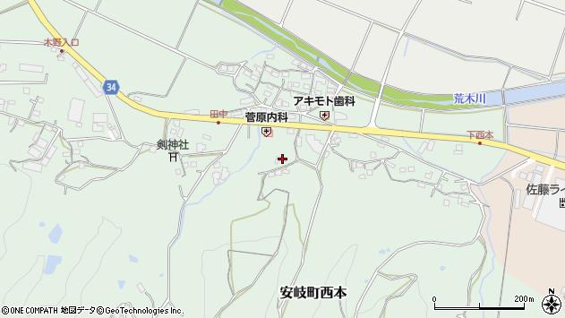 大分県国東市安岐町西本905周辺の地図