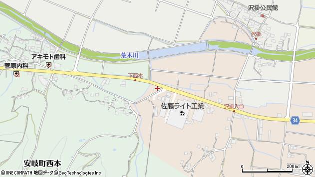 大分県国東市安岐町西本2034周辺の地図