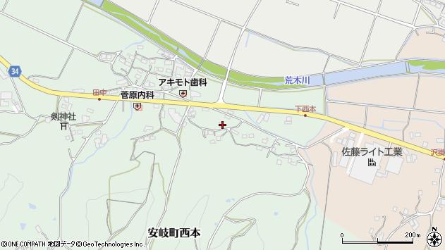 大分県国東市安岐町西本1053周辺の地図