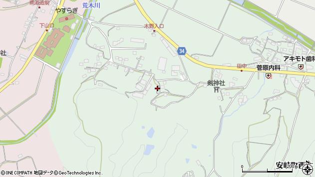 大分県国東市安岐町西本689周辺の地図