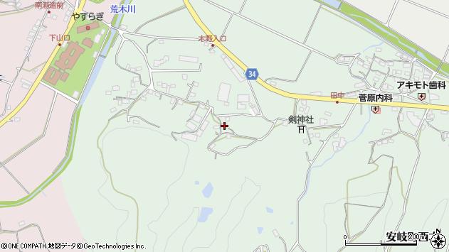 大分県国東市安岐町西本584周辺の地図