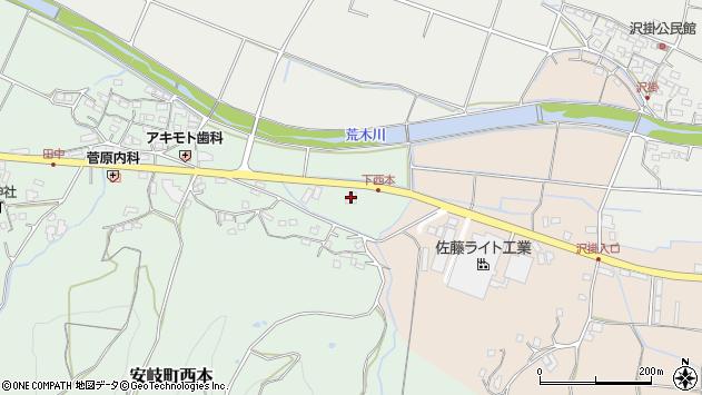 大分県国東市安岐町西本1104周辺の地図