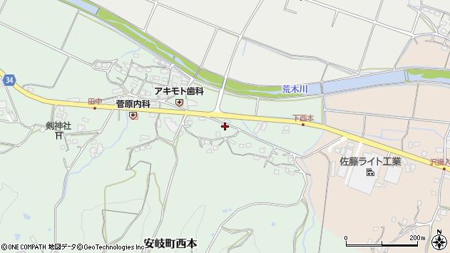 大分県国東市安岐町西本1060周辺の地図
