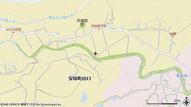 大分県国東市安岐町山口672周辺の地図