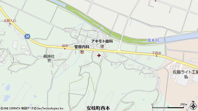 大分県国東市安岐町西本888周辺の地図