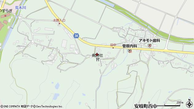 大分県国東市安岐町西本781周辺の地図