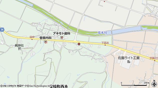 大分県国東市安岐町西本1059周辺の地図