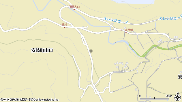 大分県国東市安岐町山口2588周辺の地図