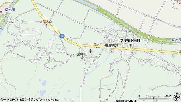 大分県国東市安岐町西本787周辺の地図