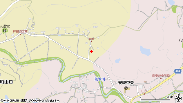 大分県国東市安岐町山口90周辺の地図