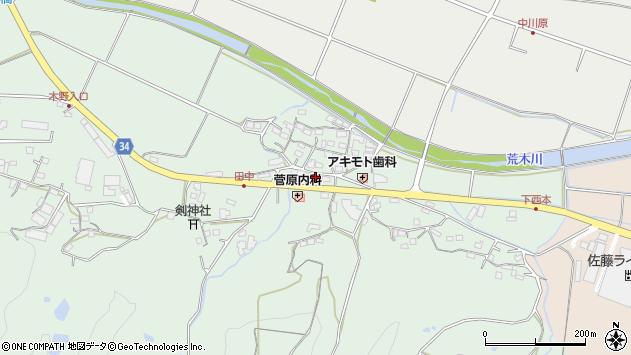 大分県国東市安岐町西本898周辺の地図