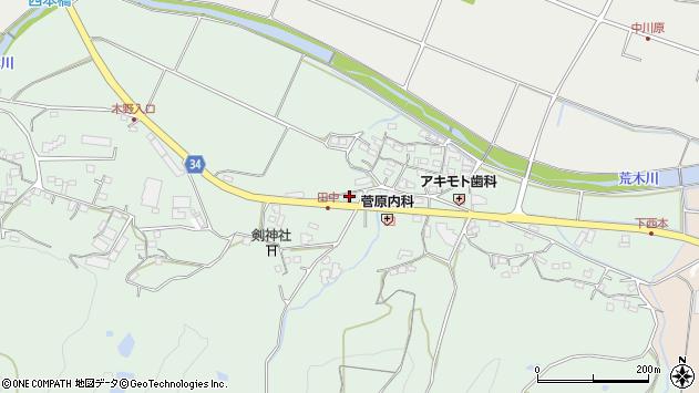大分県国東市安岐町西本794周辺の地図