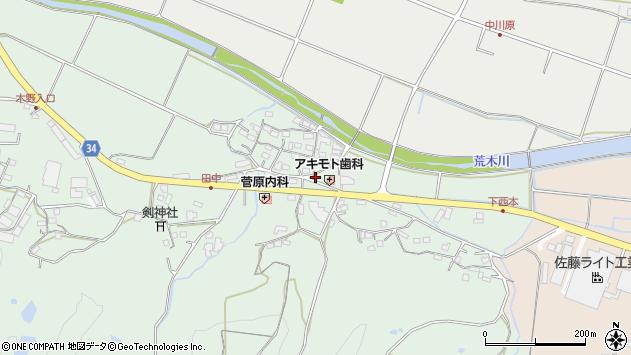 大分県国東市安岐町西本886周辺の地図