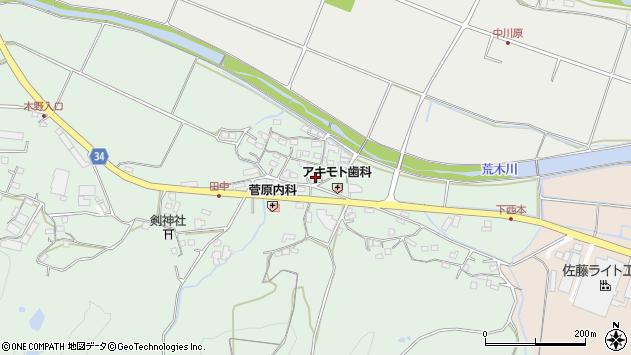 大分県国東市安岐町西本871周辺の地図