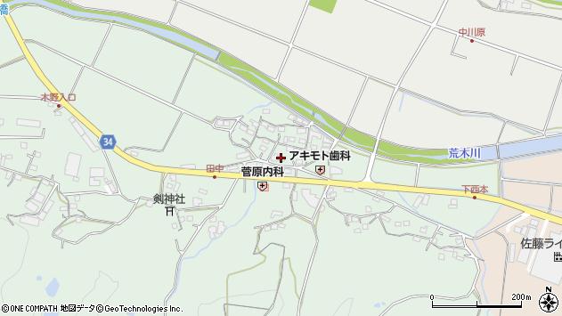 大分県国東市安岐町西本周辺の地図