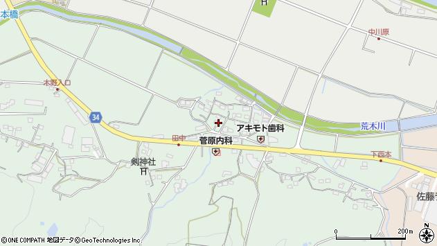 大分県国東市安岐町西本861周辺の地図