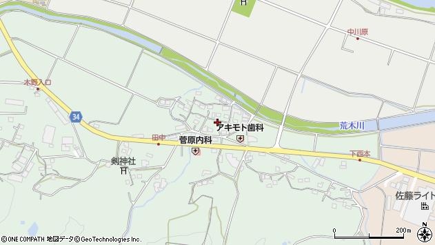 大分県国東市安岐町西本868周辺の地図