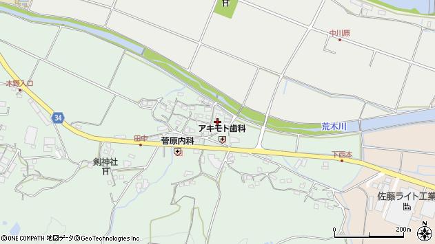 大分県国東市安岐町西本873周辺の地図