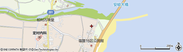 大分県国東市安岐町塩屋74周辺の地図